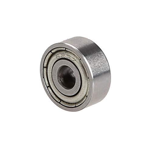 Klinkamz 10 roulements à billes 623zz Roulement Joint Métal Deep Groove Ball Radial à roulement à billes 3 x 10 x 4 mm 623zz pour RC voiture utilitaire
