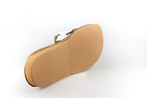 BTS - warme Damen Hausschuhe/Pantoffeln mit Futter GR. 36-41 Braun/Beige