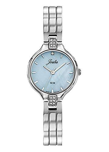 Joalia H633M402 - Orologio da donna con cinturino argentato e quadrante blu e pietre bianche