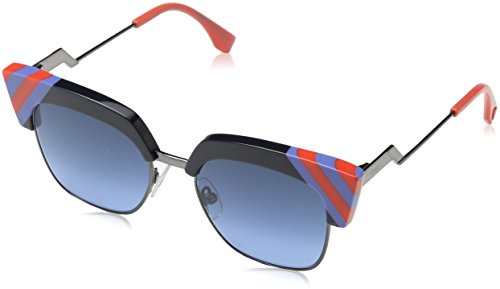 Fendi Damen FF 0241/S 08 PJP Sonnenbrille, Blau (Bluette/Dark Blue Sf), 50