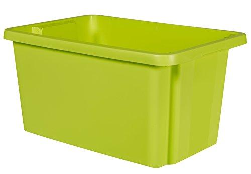 CURVER 00752-598-00 Essentials Box, stapelbar, Kunststoff Grün 56x 38,7x 29,1cm 45l
