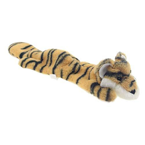 PanDaDa Plüsch Quietschendes Hundespielzeug mit Tiger/Zebra/Hirschform, Keine Kuscheltiere, Puppe, Haustier, Bissfest, Puzzle, Kauspielzeug für Hunde (Zebra-plüsch-spielzeug)