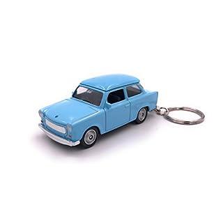 Welly Trabant Trabi Blau DDR Schlüsselanhänger Anhänger aus Metall Lizenzprodukt 1:60 OVP