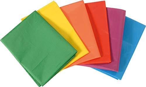 KL-Toys Stoffbahnen Set aus Polyester / 6 Bunte Tücher, ringsum eingefasst / Maße: 100 x 145 cm / für Kinder ab 3 Jahre