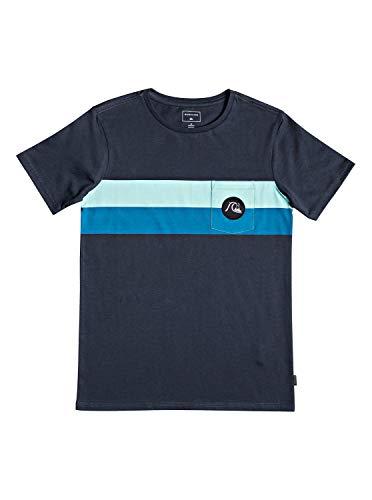 Quiksilver Jungen Season Stripe T-Shirt, Blue Nights, L/14 - Quiksilver-jungen Kleidung