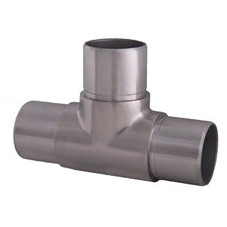 Edelstahl T-Stück Verbinder Fitting für Rohr 42,4 x 2,0 mm - V2A (S014348)