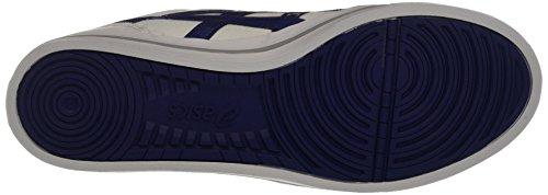 Asics  Aaron, chaussure de sport mixte adulte Blanc (White/Blue Print)