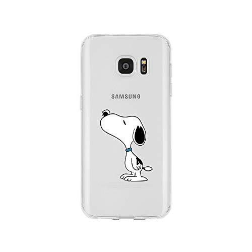 licaso Samsung Galaxy S7 Handyhülle TPU mit Dog Sniffing Print Motiv - Transparent Cover Schutz Hülle H& Schnüffeln Aufdruck Druck