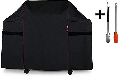 BBQ coverPRO 82836Heavy Duty Grill Abdeckung für Weber Summit 400-series Gasgrills (im Vergleich zu den Weber 7108Grill auf) einschließlich Silikonpinsel und Zange -