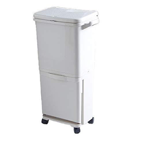 TRASH CAN Clasificación en seco y húmedo Tipo de Prensa Contenedor de Basura Contenedor Doble Barril...