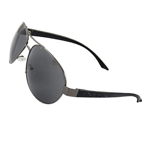 DealMux Frauen aus schwarzem Kunststoff bewaffnet volle Felgen Tear Drop Objektiv Sonnenbrillen