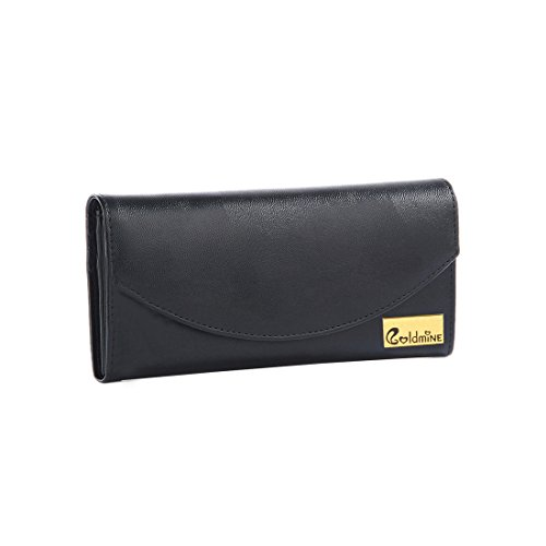 Goldmine Pu Handbag And Clutch Combo For Girls And Women's (Black)