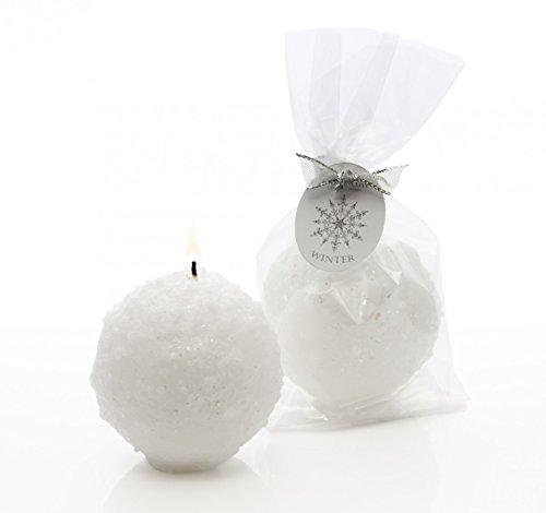 Winter Snow Ball Kerze mit Glitzer–Weihnachten Dekoration (Zimmer Essentials Ball)
