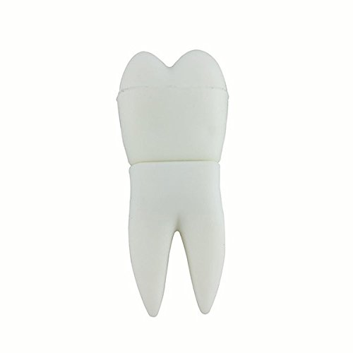 Muela del Juicio 8 GB Dentista Dental - Dentist - Memoria Almacenamiento de Datos - USB Flash Pen Drive Memory Stick - Blanco