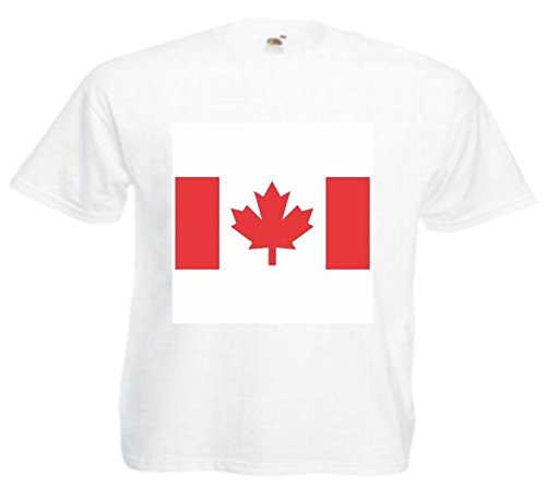 Motiv Fun T-Shirt Canada Tattoo Beauty Fashion Street Style Motiv Nr. 14778 Weiß