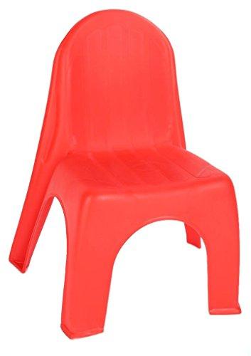 Kinderstuhl in rot - robuster Stuhl für Kleinkinder - Kindermöbel Gartenstühle Kinserstühle