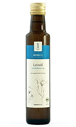 MeineÖle Bio Leinöl 750ml, erste Kaltpressung aus ausgesuchter Leinsaat, immer 24h bis 48h vor dem...