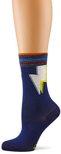 Burlington Damen Lightning Socken, per pack Mehrfarbig (prussian blue 6073), 36/41 (Herstellergröße: 36-41)