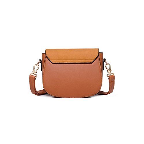 FAIRYSAN, Borsa a tracolla donna grigio Grey small Brown