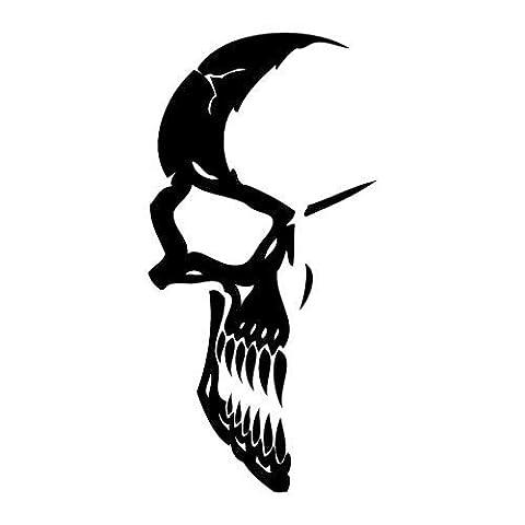 Kit tuning 2 Stickers autocollant Crâne 14 skull auto moto custom decal 1 sticker 30x14,9