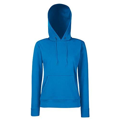 Fruit of the Loom - Classic Lady-Fit Kapuzenpullover 'Hooded Sweat' S,Royal - Frauen Blau Hoodie