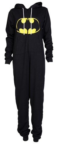 The Home of Fashion New Damen Schwarz Batman Onesie Jumpsuit (SM ()