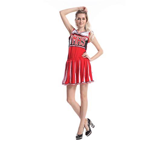 College Maskottchen Kostüm - AIZYR Damen Cheerleader Uniform, Damen-sexy Highschool