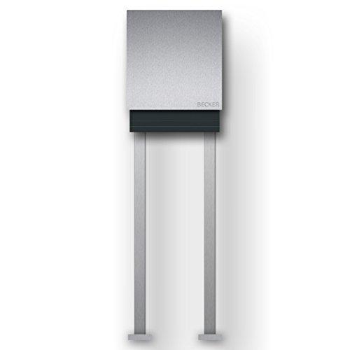 briefkasten edelstahl freistehend mit zeitungsfach briefkastentipps. Black Bedroom Furniture Sets. Home Design Ideas