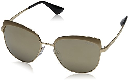 Prada Damen 0PR51TS VAQ1C0 56 Sonnenbrille, Metallized Pale Light Brown Gold
