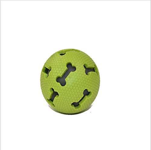 NIJY Forniture per Animali Domestici Cane Giocattolo Morso Resistente Ai Denti Teddy Golden Retriever Cuccioli Cane Giocattolo Vocale Palla Forniture Verde Ossa