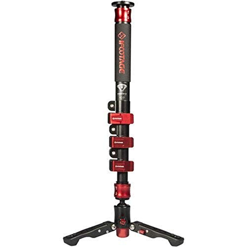 iFootage Cobra 2 C180 10 kg Gewicht Bär Leichte Kamera Einbeinstativ 180 cm Kohlefaser Tragbare DSLR Video Einbeinstativ/Einstellbare Kamerapod für Ronin S Crane 2 Gimbal