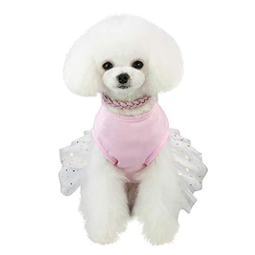 Robemon Haustierkleidung,Haustier Welpen Kleine Hochzeit Prinzessin-Kleid Tutu Katze Rock Kleidung Kostüm Hundekleider Outfits