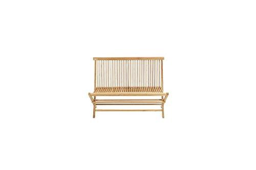 Premium banc pliable en teck/Banc de jardin en bois de teck/pliable/120 cm/extérieur/Très résistant