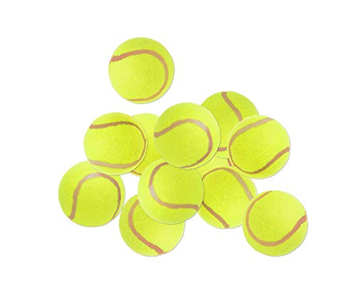 BigDean 12 Stück Tennisbälle im Set - Standard-Tennisball gelb 65mm in Polybeuteln