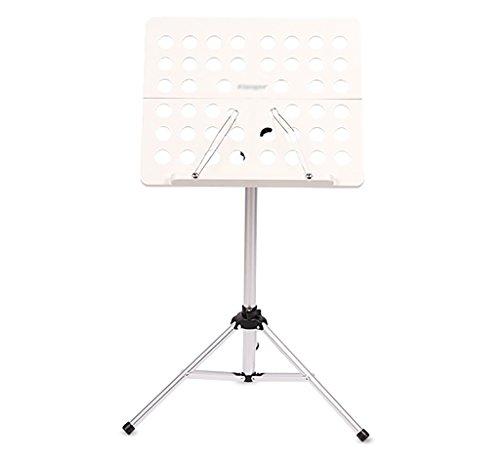 Notenständer Retractable Bracket Spectrum Regal mit Musik Buch Clip Faltbare und Tragbare (Farbe : Weiß)