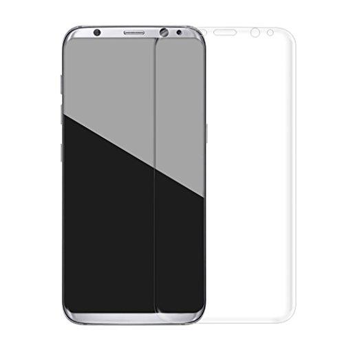 Preisvergleich Produktbild Aursen® Ultra dünne Samsung S8 Temperierten Glasfilm 0.26mm 3D Schutzfolie Full Cover Prodector vorgerundete Anti-Fingerprint, Transparent Rahmen