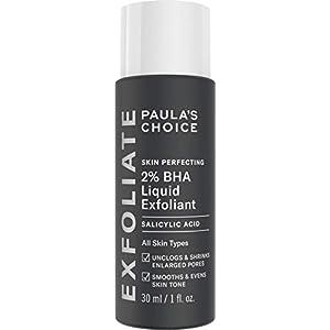 Paula's Choice Skin Perfecting Liquido Exfoliante 2% de BHA – Peeling Facial Combate Espinillas & los Puntos Negros – Limpia Poros – con Ácido Salicílico – Piel Mixta a Grasa – Tamaño de Viaje 30 ml