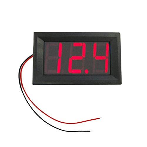 PGIGE DC4.5V-30.0V 0.56in 2 Fili LED Display Digitale voltmetro voltmetro Elettrico Volt Tester per Auto Batteria Auto Moto - Rosso
