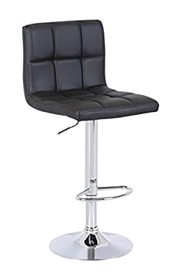 Cuban Black Faux Leather Breakfast Kitchen Bar Stools - inexpensive UK bar stool store.