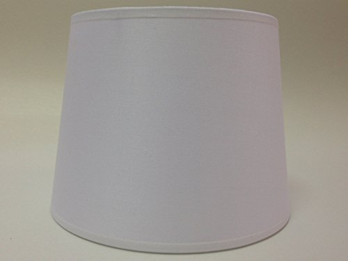 20,3 cm Empire Abat-jour Tissu de coton Blanc lumière Abat-jour Table fait à la main.