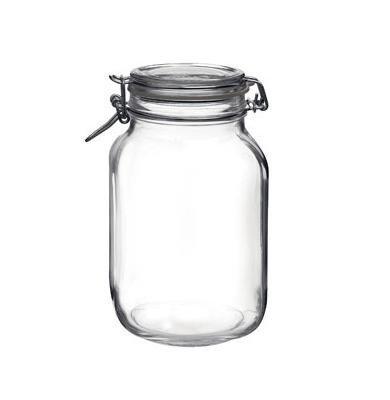 Grosses Einmachglas Vorratsdose Glasdose mit Bügelverschluss für 2 Liter