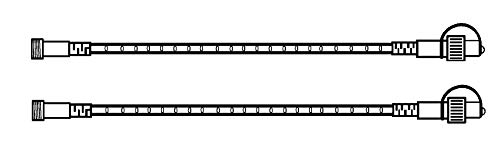 Best Season 491-30 System 24 LED Corde lumineuse 28-L Lumière blanche chaude 2 x 1 m