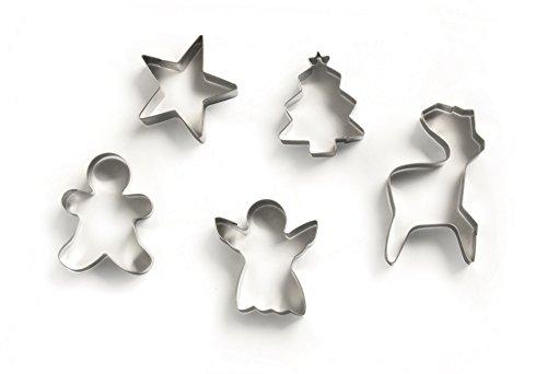 excelsa-cookies-time-juego-de-5-moldes-para-galletas-diseno-de-navidad-acero-inoxidable-plata-16-x-2