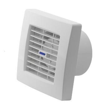 Badlüfter mit Jalousie Ventilator Raumentlüfter Lüfter Einbaulüfter 100 mm Weiß (Abluft-jalousie)