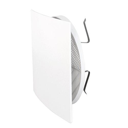 La Ventilazione QUTUR125X Griglia di Ventilazione Estetica 166x166 mm in Plastica con Molle, Bianco