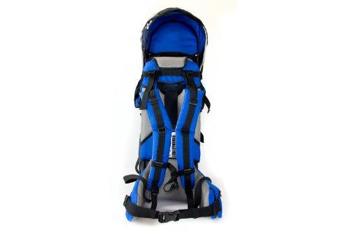 FA Sports -Lil´Boss Kids Carrier - Zaino porta bimbo, Verde (Verde/Grigio/Nero), 90 cm Blu/Grigio/Nero