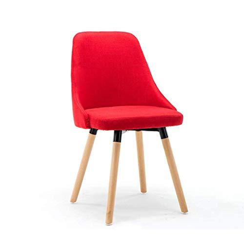 Qjifangyizi Hoher Hocker, Holzbeine Gepolsterte Sitzlehne Frühstück Home Kitchen Cafe Stühle, Einteilig/Zwei Stücke (Farbe : Red) - 4 Zähler Höhe Stühle