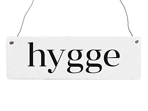 Interluxe Holzschild Türschild Hygge Definition dänische Gemütlichkeit Lebensgefühl hyggelig