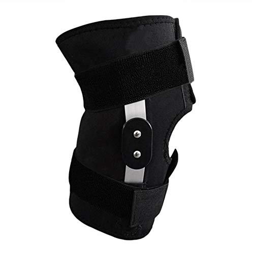 Fantasyworld Kniebandage, verstellbar, mit komplettem Schutz für Knie, Knieschützer für Sport, Sicherheitsgurt zum Laufen, Schwarz XL