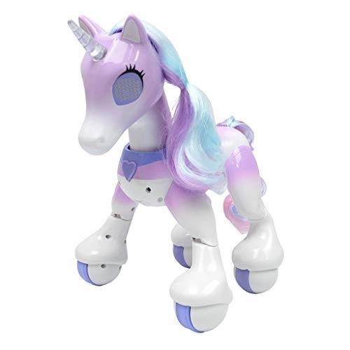 Homyl Kinder RC Interaktive Elektronische Pferd Intelligente Roboter Spielzeug mit Mehrfunktion wie Singen, Tanzen, Gehen, Joggen, Geschichten erzählen. - Lila